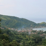 A seaside town in Aceh Province sits at the foothills of Leuser's forested hillsides.